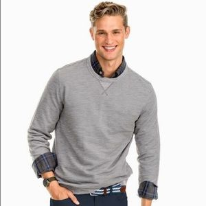 Southern Tide Gray Upper Deck Twill Crew Neck